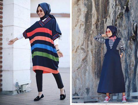 İlkbahar Tesettür Giyim Kombinleri 2017