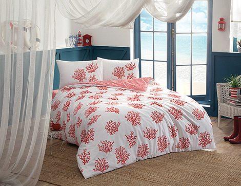 Yatak Odalarına Marin Atmosferin Temsilcisi Mercan Desenler
