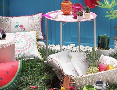 Parlatılmış Zarafet ve Sanatın Birleştiği English Home Renkli Yaz Rüyası