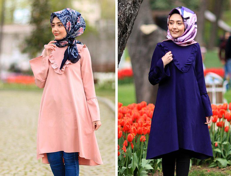 0de9e12319f Tesettür Tunik Kombinleri 2017 Verza | Resimlerle Tesettür Giyim ...
