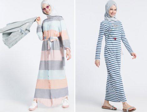 Yazlık Tesettür Giyim Kombinleri 2017