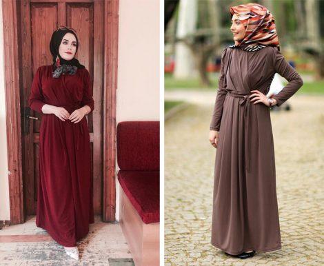 Verza Tesettür Giyim Elbise Modelleri 2017