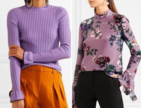 2018 Tesettür Giyim Kombinleri ve Mor Renkli Kombinler