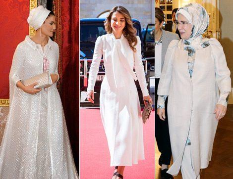 Rania Al Abdullah, Moza Bint Nasser ve Emine Erdoğan'dan İlham Veren Görünümler