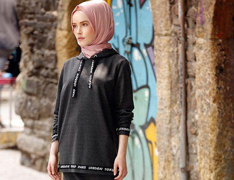 c46cd0c9fd485 Gençler İçin Günlük Tesettür Giyim Modelleri (Online Alışveriş)