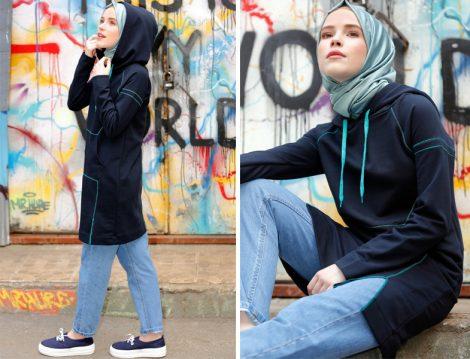 Gençler için Spor Tesettür Kombinler ve Kıyafetler