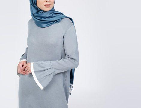 En Güzel Tesettür Triko Elbise Modelleri 2017 (Online Alışveriş)