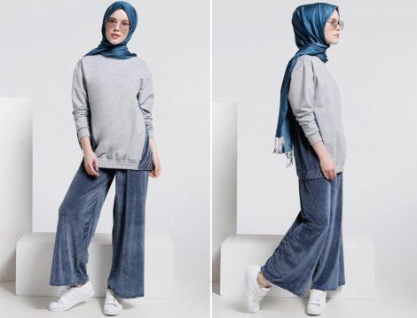 Kadife Tesettür Giyim Modelleri 2018 (10)