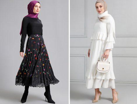 Tesettür Uzun Hırka Kap ve Elbise Modelleri