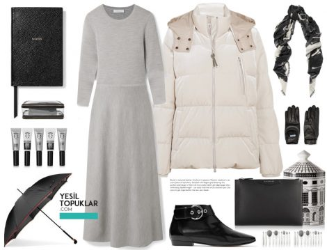 Beyaz Tesettür Giyim Modelleri ve Kombinleri