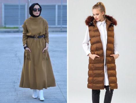 Kahverengi Tesettür Giyim Modelleri