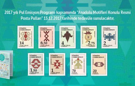 """PTT'den """"Anadolu Motifleri"""" Konulu Resmi Posta Pulları"""