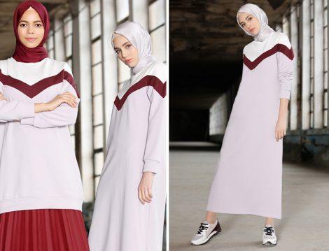 Mor Tesettür Giyim Modelleri 2018