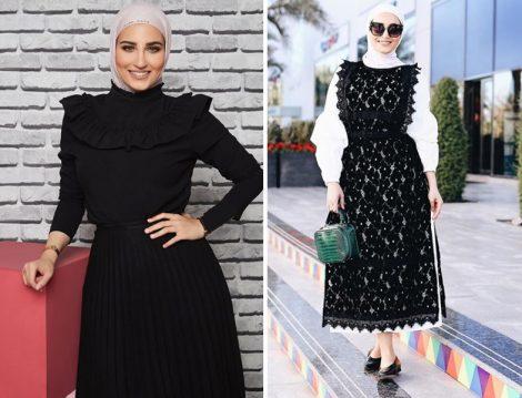 Siyah Tesettür Giyim Modelleri