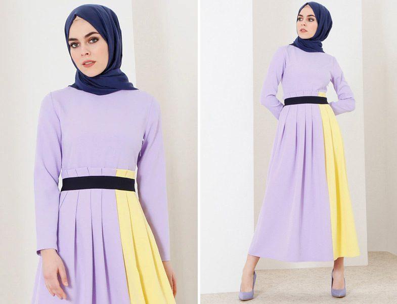 ad5d3b7705bf5 2018 Moda Renkleriyle Tesettür Kombinler | Resimlerle Tesettür Giyim ...