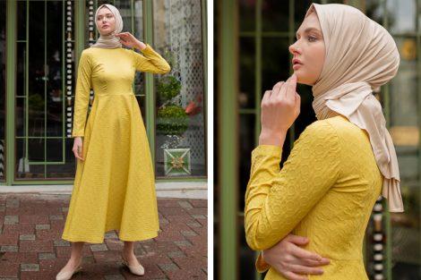 Sazze Design Sarı Elbise