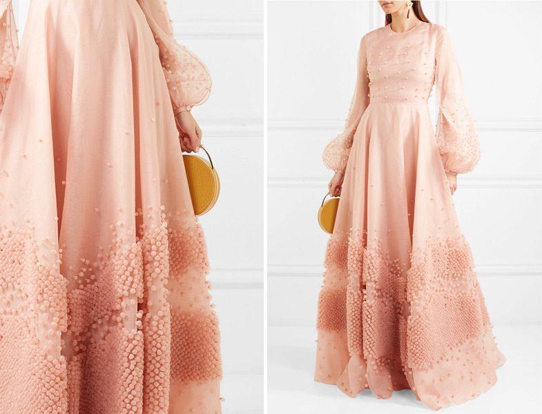 Şeftali Rengi Tesettür Giyim Modelleri
