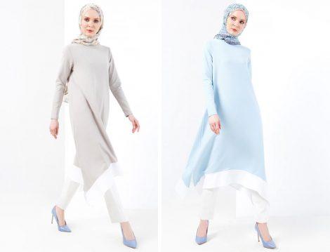 2018 Tesettür Tunik Modelleri