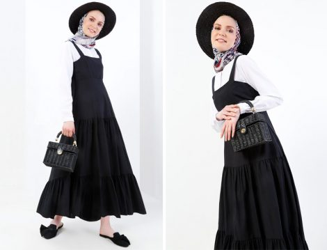 Tesettür Jile Elbise Modeli 2018