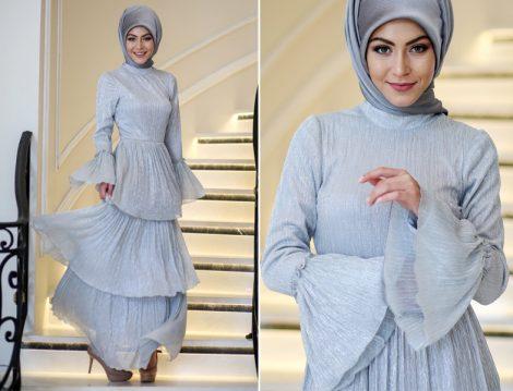 Tesettürlü Mezuniyet Elbisesi Modelleri