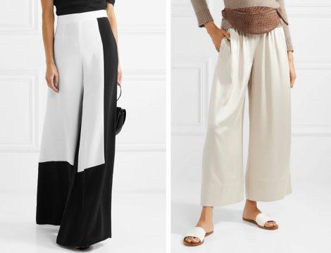 Beyaz Bol Paça Pantolon Modeli