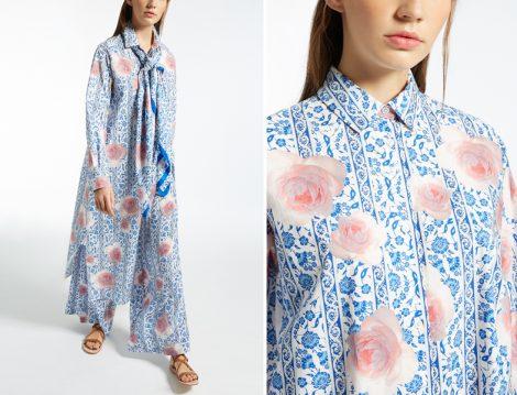 Mavi Tesettür Elbise Modelleri 2018