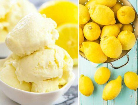 Sadece 4 Malzeme İle Ev Yapımı Limonlu Dondurma Tarifi