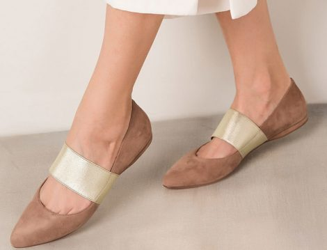 Nine West Hakiki Deri Natürel Süet Kadın Ayakkabı