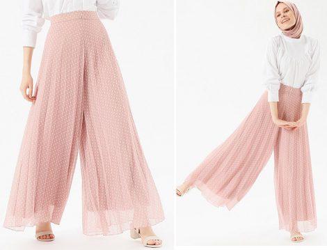 Benin Piliseli Şifon Pantolon Modelleri