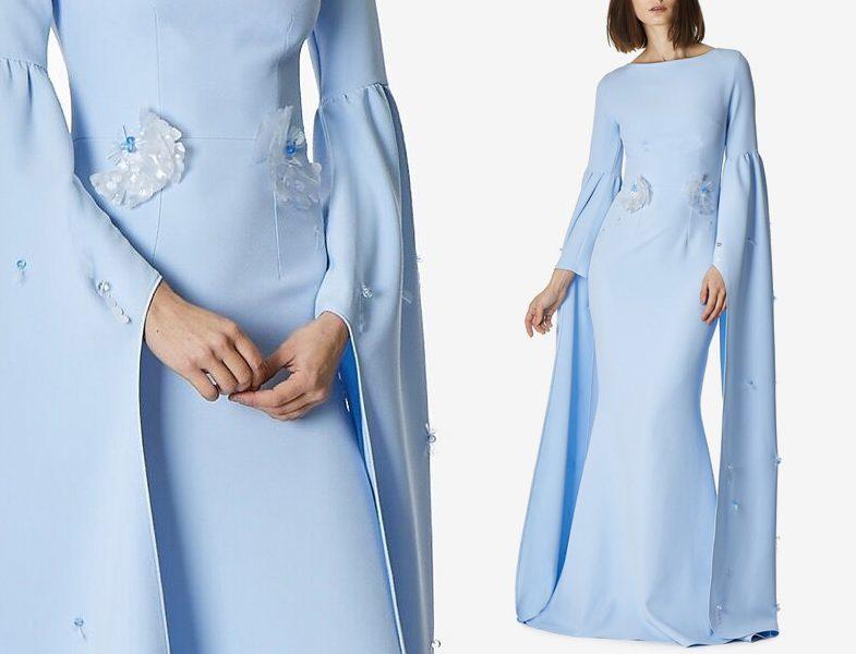 Sade Tesettür Abiye Elbise Modeli