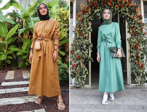Sena Sever'den 20'li Yaşlar İçin Tesettür Elbise Modelleri