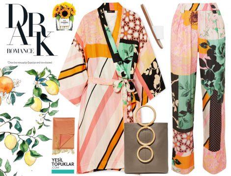 Tesettür Yazlık Kimonolarla Renkli Kombin