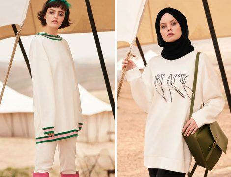 Tuğba Venn 2018 Yaz Beyaz Spor Giyim Modelleri