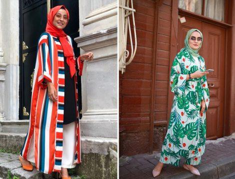 Yaz Tatili İçin Çizgili ve Desenli Kimono Modelleri