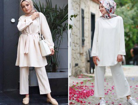 Yaz Tatili İçin Tunik Bol Pantolon İkili Takım Modelleri