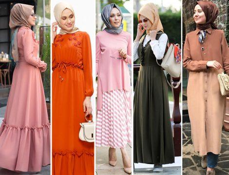Bayrama Özel Tesettür Elbise - Etek ve Tunik Modelleri