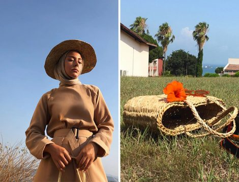 Hasır Şapka ve Çanta Modası