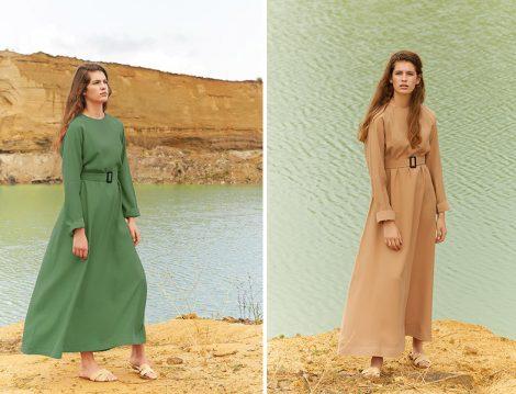 Kadriye Baştürk 2018 Yaz Tesettür Elbise Modelleri