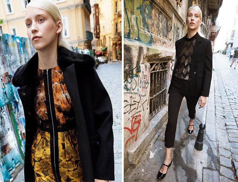 Machka 2018-2019 Sonbahar Kış Elbise-Kaban ve Pantolon -Ceket-Bluz Üçlü Takım