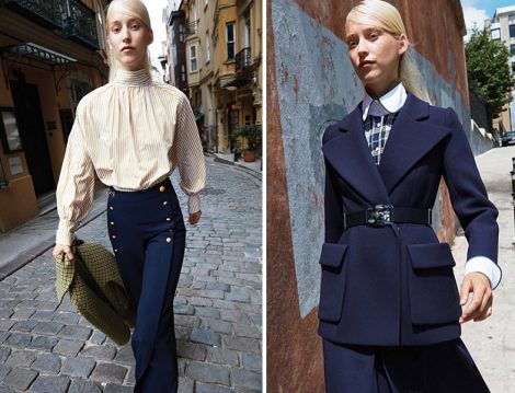 Machka 2018-2019 Sonbahar Kış Lacivert Pantolon ve Ceket Modelleri
