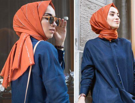Moda Kaşmir Işıltılı Pamuklu Şal