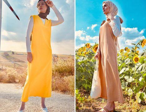 Tesettür Yazlık Jile ve Salopet Elbise Modelleri