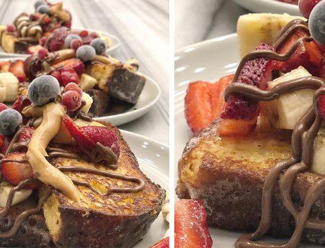 Çikolata ve Taze Meyvelerle Servis Edilen Brioche French Toast