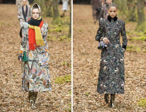 Chanel 2018-19 Sonbahar – Kış Desenli Elbise ve Manto Modelleri