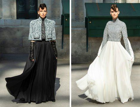 Chanel 2019 Taş Detaylı Şifon Abiye Elbise Modelleri