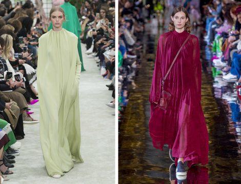 Dünya Modasında 2018 Sonbahar Kış Bol Elbise Modelleri