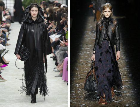 Dünya Modasında 2018 Sonbahar Kış Deri Elbise Ve Ceket Modelleri