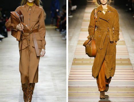 Dünya Modasında 2018 Sonbahar Kış Kahverengi Kaban Modelleri