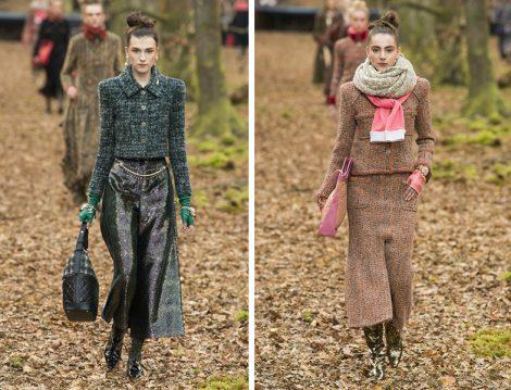 Dünya Modasında 2018 Sonbahar Kış Tüvit Kumaş Etek Ceket Modelleri