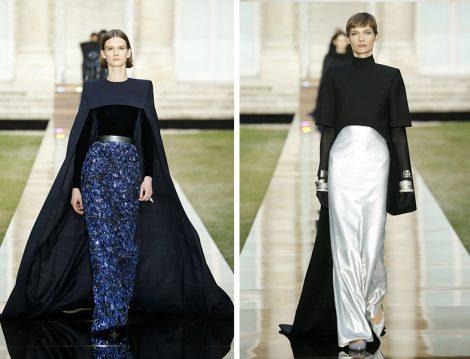 Givenchy 2018-19 Sonbahar – Kış Couture Pelerin Detaylı Davet Elbisesi Modelleri